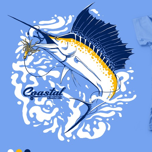 Fishing design with the title 'Graphic Tees for Coastal Collective'