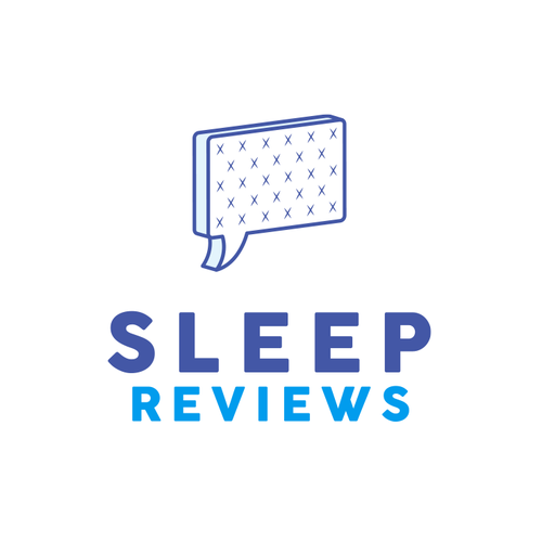 Bed design with the title 'Sleep Reviews'