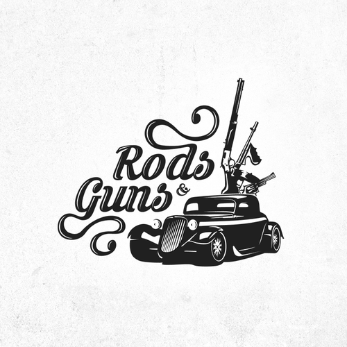 Gangster design with the title 'Logo design for car show in shooting sports facility'