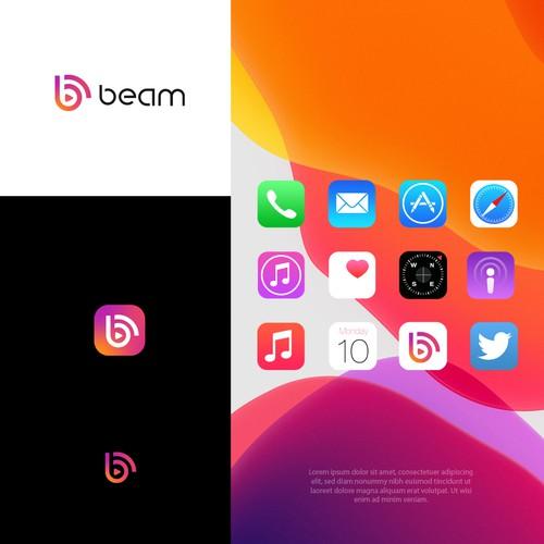 Favicon design with the title 'Beam'