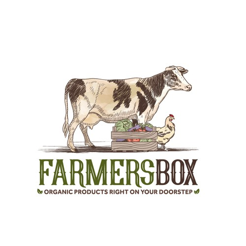 Vegetable logo with the title 'Farmer's Box'