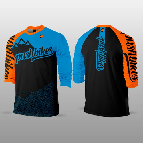Mountain bike design with the title 'MTB Jersey'