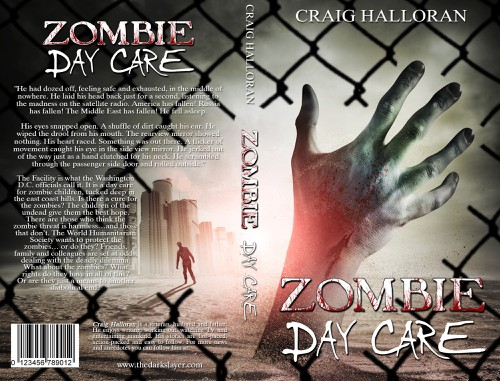 Zombie book cover with the title 'Zombie Book Cover Design - Full Pro Cover'