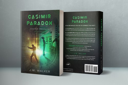 Time travel design with the title 'Casimir Paradox - Casimir Institute Book 3'
