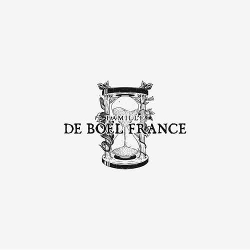 Wine logo with the title 'Logo for Famille De Boel France'