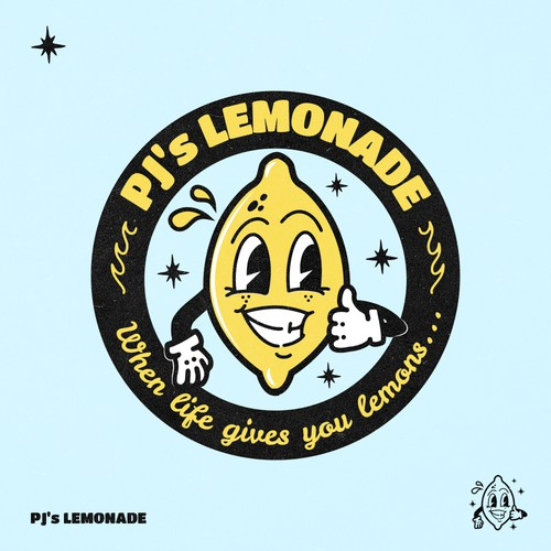 Lemon logo with the title 'Logo for a clothing company'