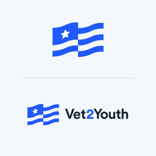 Mentoring logo with the title 'Vet2Youth Logo Design'