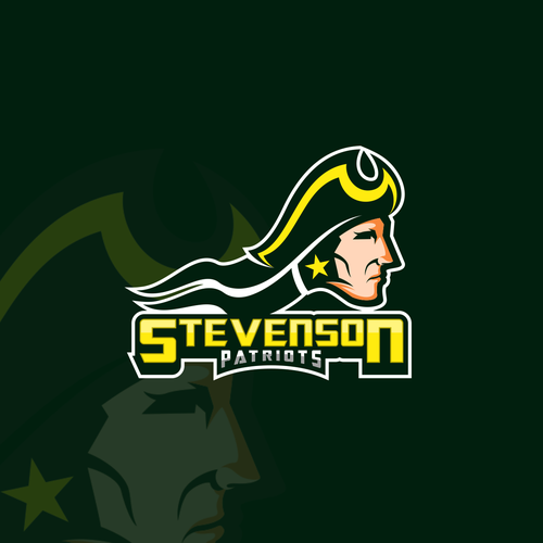 Soldier logo with the title 'Stevenson Patriots'