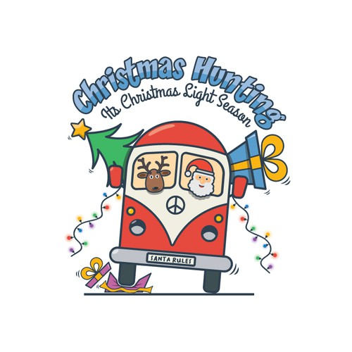 Christmas tree logo with the title 'Christmas Hunting'