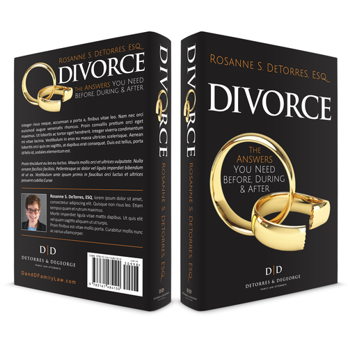Family book cover with the title 'Book Cover Design concept for DIVORCE'