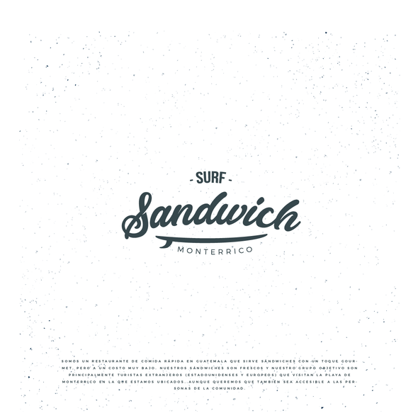Bench logo with the title 'Logo Surf Sandwich'