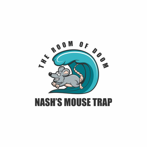 Pest control design with the title 'mouse trap logo'