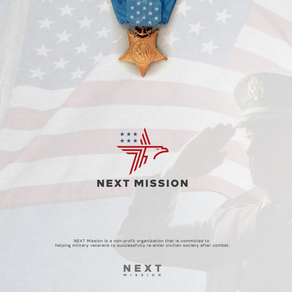 Flag brand with the title 'NEXT MISSION '