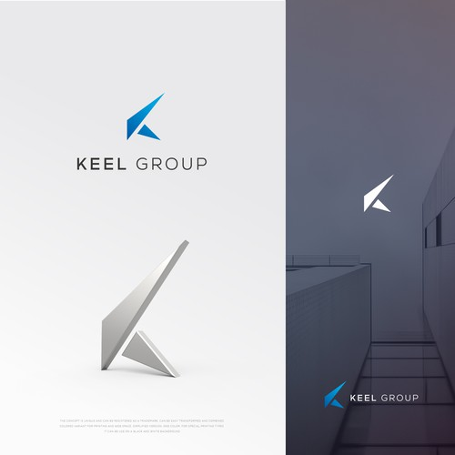 Triangle design with the title 'k-logo'