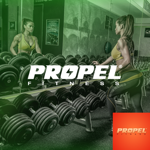Billboard logo with the title 'Propel Fitness Products Logo'