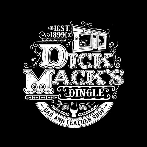 Leather design with the title 'Dick Mack's Dingle'