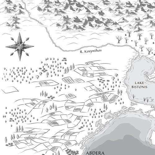 Illustrator design with the title 'Map for historical fantasy novel'