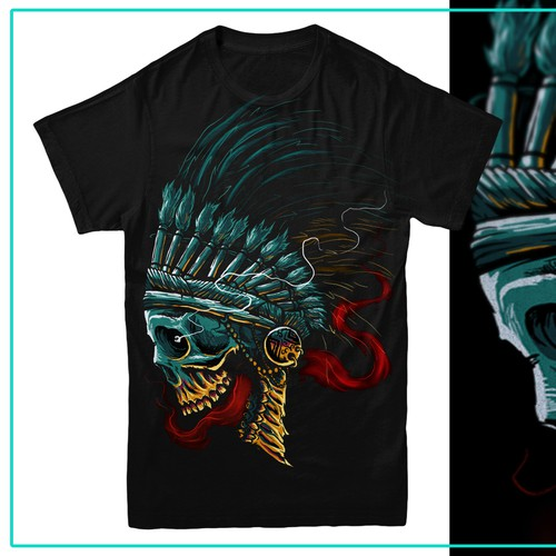Construction t-shirt with the title 'Skull Chief'