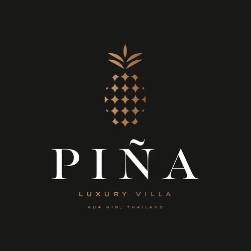 Villa design with the title 'Piña / Luxury Villa'
