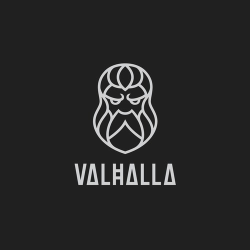 Beard logo with the title 'Valhalla'