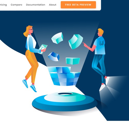 Access design with the title 'Illustrations for website '