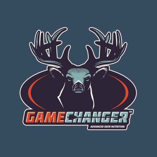 Deer logo with the title 'Badass Deer logo for Game Changer'