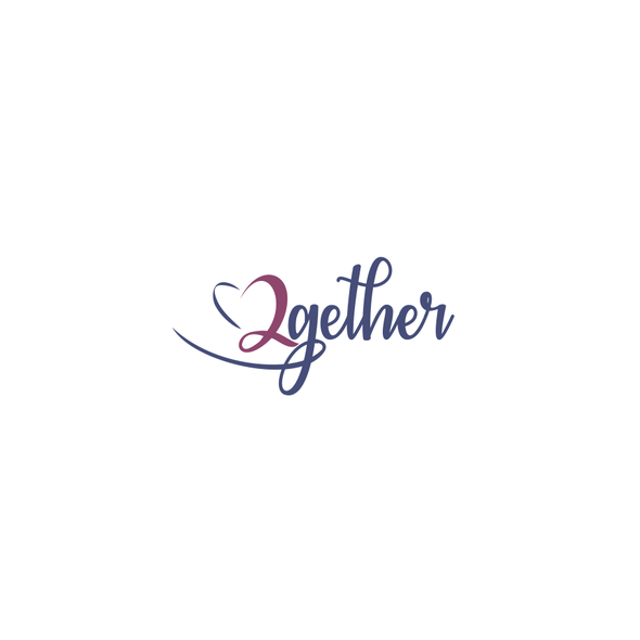 Curvy logo with the title 'A Logo for financial consulting : 2gether'