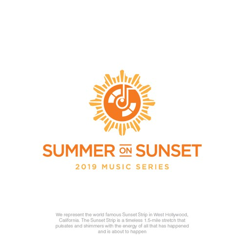 Sound design with the title 'Summer on Sunset'