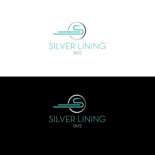 Ski logo with the title 'Logo idea for skiing retail company'
