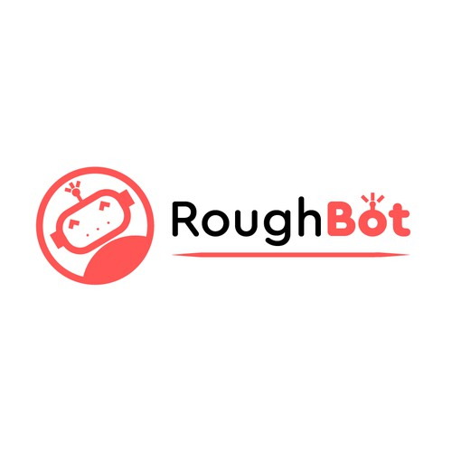 Robot logo with the title 'Logo concept for robotics kit for schools and families'