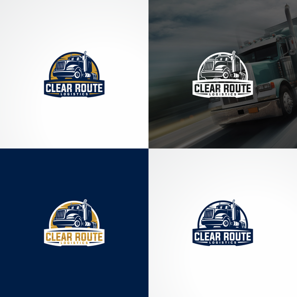 Truck logo with the title 'Clear Route Logistics'