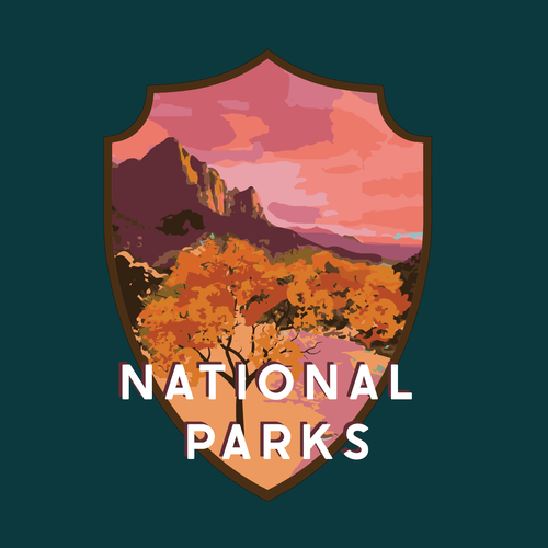 20s design with the title 'Zion National Park USA Logo'