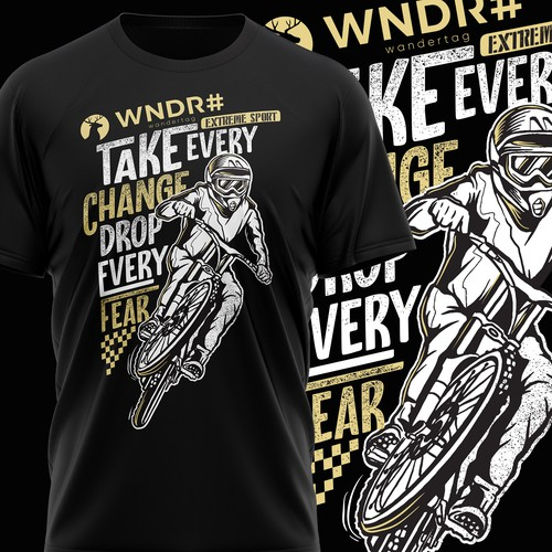 Outdoor t-shirt with the title 'Lead Design(er) wanted for Fashion label WNDR#'
