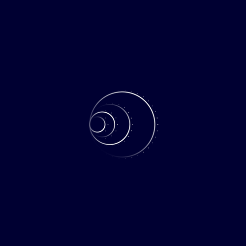 Golden ratio design with the title 'Golden ratio logo'