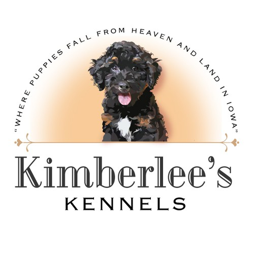 Kennel logo with the title 'Kimbelee's Kennels logo'