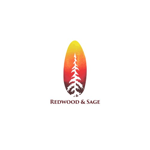Sage logo with the title 'Logo design concept for Redwood & Sage'