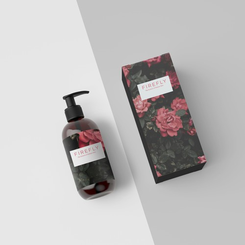 Rose packaging with the title 'Lotion package design concept'