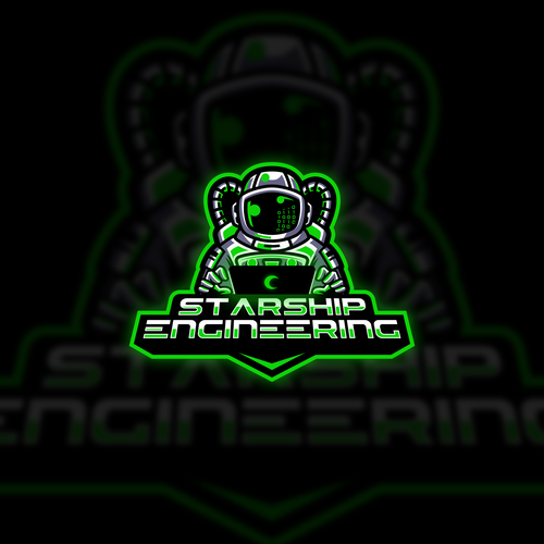 Esports design with the title 'Astronaut engineer'