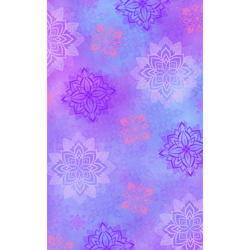 Purple artwork with the title 'Pattern for a fleece blanket'
