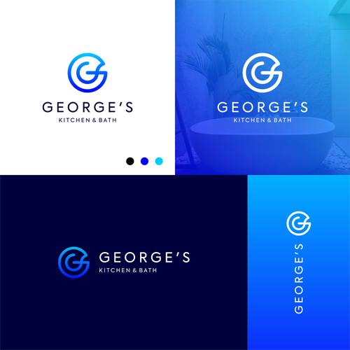 """Simple logo with the title 'dinamic letter """"G"""" '"""