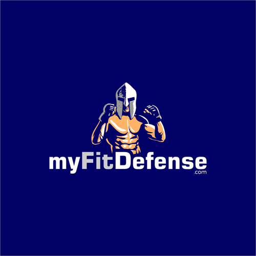 Workout logo with the title 'Logo Design for myFitDefense'