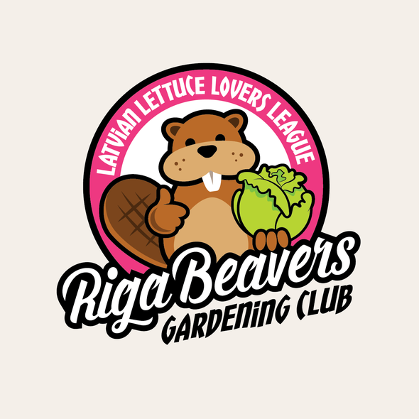 Horticulture logo with the title 'Riga Beavers logo'