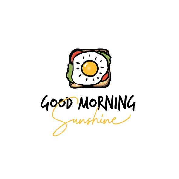 Breakfast design with the title 'Sunny sandwich'