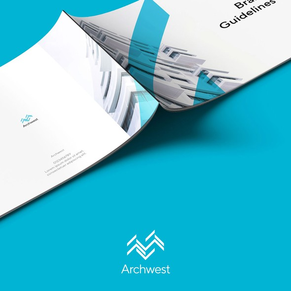 Tagline design with the title 'Brand guide for business'