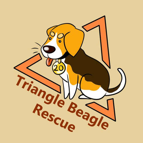 Beagle logo with the title 'Logo for beagle breed specific rescue'