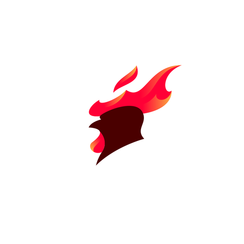 Fire logo with the title 'Hot Chicken'