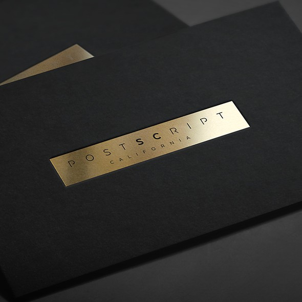 Gold foil design with the title 'Logo design for fashion company'