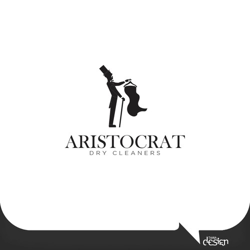 Laundry logo with the title 'ARISTOCRAT - Dry Cleaners'