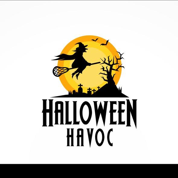 Halloween design with the title 'halloween havoc'