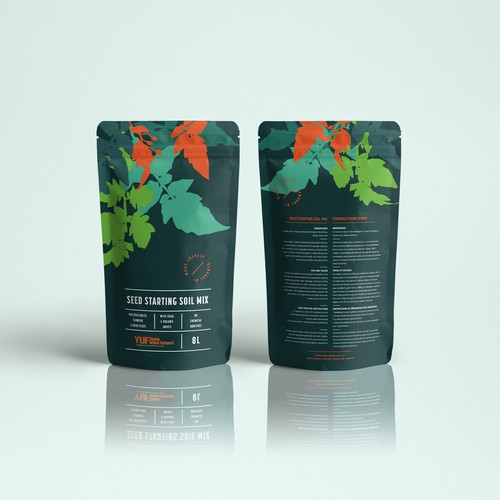 Plant design with the title 'Premium packaging design'